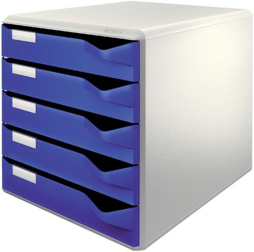 Ladenbox Leitz 5280 A4 5 laden blauw.
