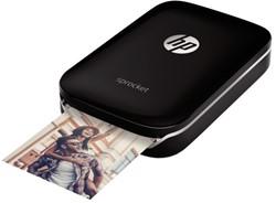 Fotoprinter HP Sprocket zwart.
