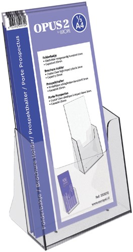 Folderhouder OPUS 2 1/3 A4 acryl (350070).