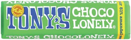 Chocolade Tony's Chocolonely reep 47 gram amandel zeezout.