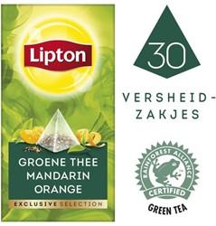 Thee Lipton Exclusive Groene thee mandarin 25 piramidezakjes.