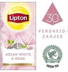 Thee Lipton Exclusive Aziatisch wit+rozen 30 piramidezakjes.