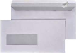 Envelop Quantore 110x220mm zelfklevend met venster links 3x10cm 25 stuks.