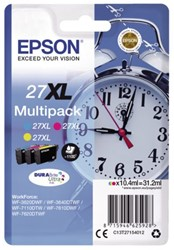 Inktcartridge Epson 27XL T27154012 3-kleurenset.