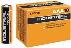 Batterij Industrial AAA alkaline doos á 10 stuks.