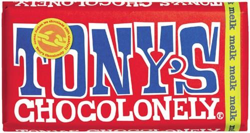 Chocolade Tony's Chocolonely reep 180 gram melk.