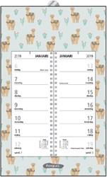 Omlegweekkalender 2019 Foqus 21x34cm alpaca.