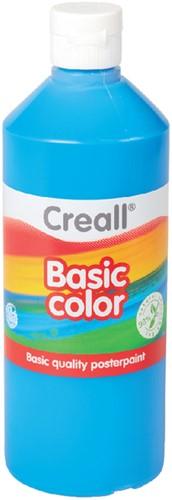 Plakkaatverf Creall basic 10 primair blauw 500ml.