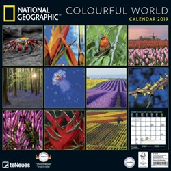 Kalender 2019 teNeues National Geographic coulourful world 30x30cm.