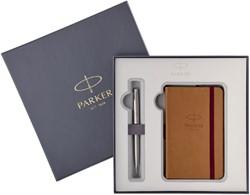 Vulpen Parker Sonnet CT M met notitieboek.