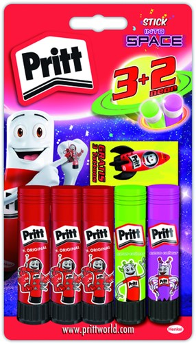 Lijmstift Pritt In to Space 11 gram 3+2 gratis.