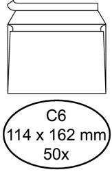 Envelop Quantore bank C6 114x162mm zelfklevend wit 50 stuks.