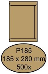 Envelop Quantore akte P185 185x280mm bruinkraft 500 stuks.
