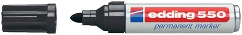 Permanent marker Edding 550 rond zwart 3-4mm