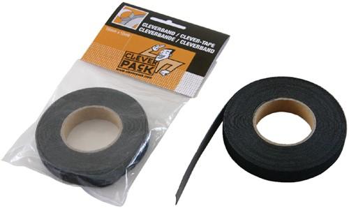 Klittenband CleverPack kabelbinder 2-in-1 zwart.