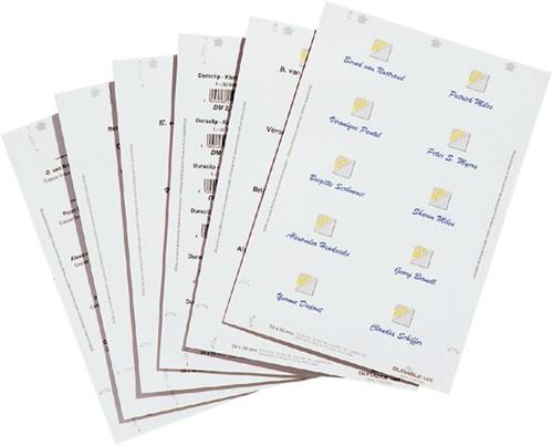 Badgekaartjes Durable 1456 bedrukbaar 60x90mm 160 stuks.