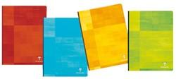 Notitieboek Clairefontaine Matris A4 harde kaft assorti kleuren - 96 vel 90 grams gelijnd papier.