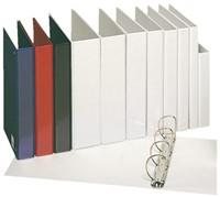 Panoramaringband Esselte luxe 4-rings A4-25mm wit voorzien van 2 tassen.-3