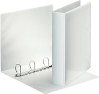 Panoramaringband Esselte luxe 4-rings A4-25mm wit voorzien van 2 tassen.