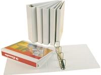 Panoramaringband Esselte luxe 4-rings A4-25mm wit voorzien van 2 tassen.-2