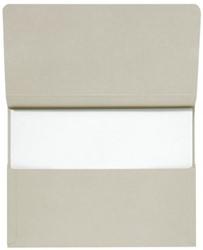 Pocketmap Jalema Secolor folio 270 grams karton grijs. Afname per 10 stuks.