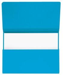 Pocketmap Jalema Secolor folio 270 grams karton blauw. Afname per 10 stuks.