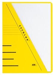 Insteekmap driehoeksmap Jalema Secolor A4 270 grams karton geel. Afname per 10 stuks.