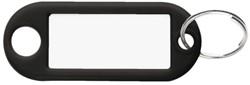 Sleutellabel Pavo kunststof zwart.