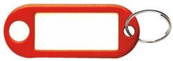 Sleutellabel Beaumont kunststof rood.