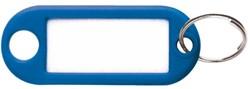 Sleutellabel Pavo kunststof donkerblauw.