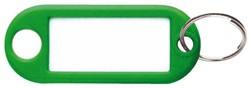 Sleutellabel Pavo kunststof groen.