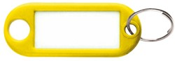 Sleutellabel Beaumont kunststof geel.