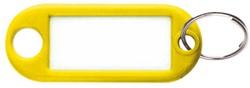 Sleutellabel Pavo kunststof geel.