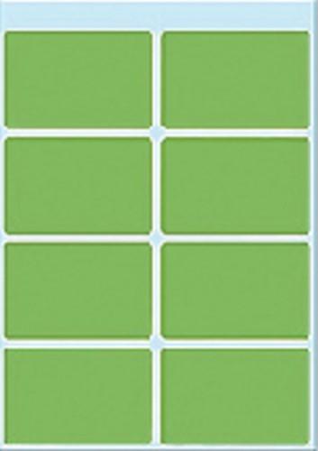 Etiket Herma 3695 26x40mm groen 40 stuks. Afname per 5 blisters.
