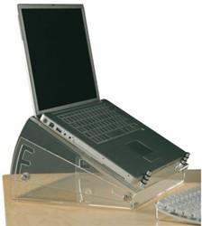 Laptopstandaard verhoger Opus 2 transparant.