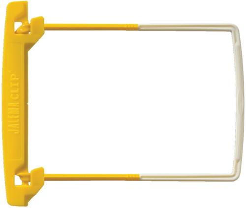 Bundelmechaniek Jalemaclip compleet geel 10 stuks.
