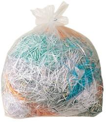 Opvangzakken plastic 94 liter voor Fellowes papiervernietigers - verpakt per 50 stuks.