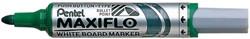 Whiteboard marker Pentel MWL5M Maxiflo groen 3mm.