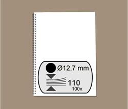 Draadrug GBC 34 rings 3:1 verdeling 12mm zwart 100 stuks.