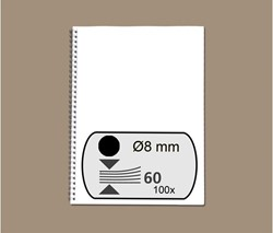Draadruggen GBC 34 rings 3:1 verdeling 8mm zwart 100 stuks.
