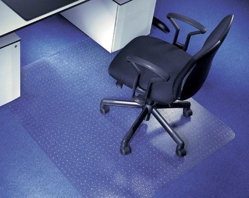 Stoelmat Rillstab polycarbonaat 120x150cm voor vloerbedekking.