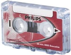 Cassette dicteer Philips LFH0005 2c15min met clip.