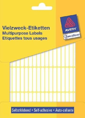 Etiket Avery Zweckform 3306 13x8mm wit 3712 stuks.