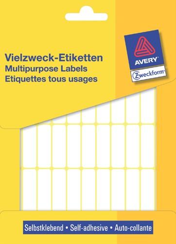 Etiket Avery Zweckform 3320 32x10mm wit 1144 stuks.