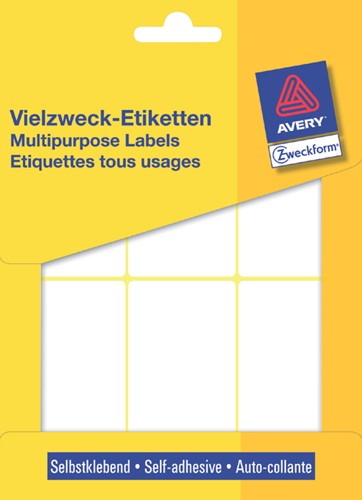 Etiket Avery Zweckform 3329 76x39mm wit 192 stuks.