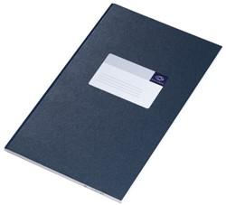 Notitieboek Atlanta breedfolio 33 x 20,5cm harde kaft blauw - 96 vel gelijnd papier 2104215600.