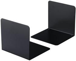 Boekensteun Durable 3242-01 gesloten 125x123x130xmm zwart 2 stuks.
