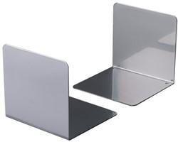 Boekensteun Durable 3243-23 gesloten 123x123x130mm zilvergrijs 2 stuks.