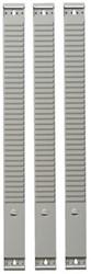 Planbord element Atlanta A5544-021 63mm/2 punten 35 sleuven grijs voor kaartjes 48mm.