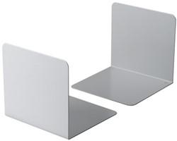 Boekensteun Durable 3243-10 gesloten 123x123x130mm lichtgrijs 2 stuks.